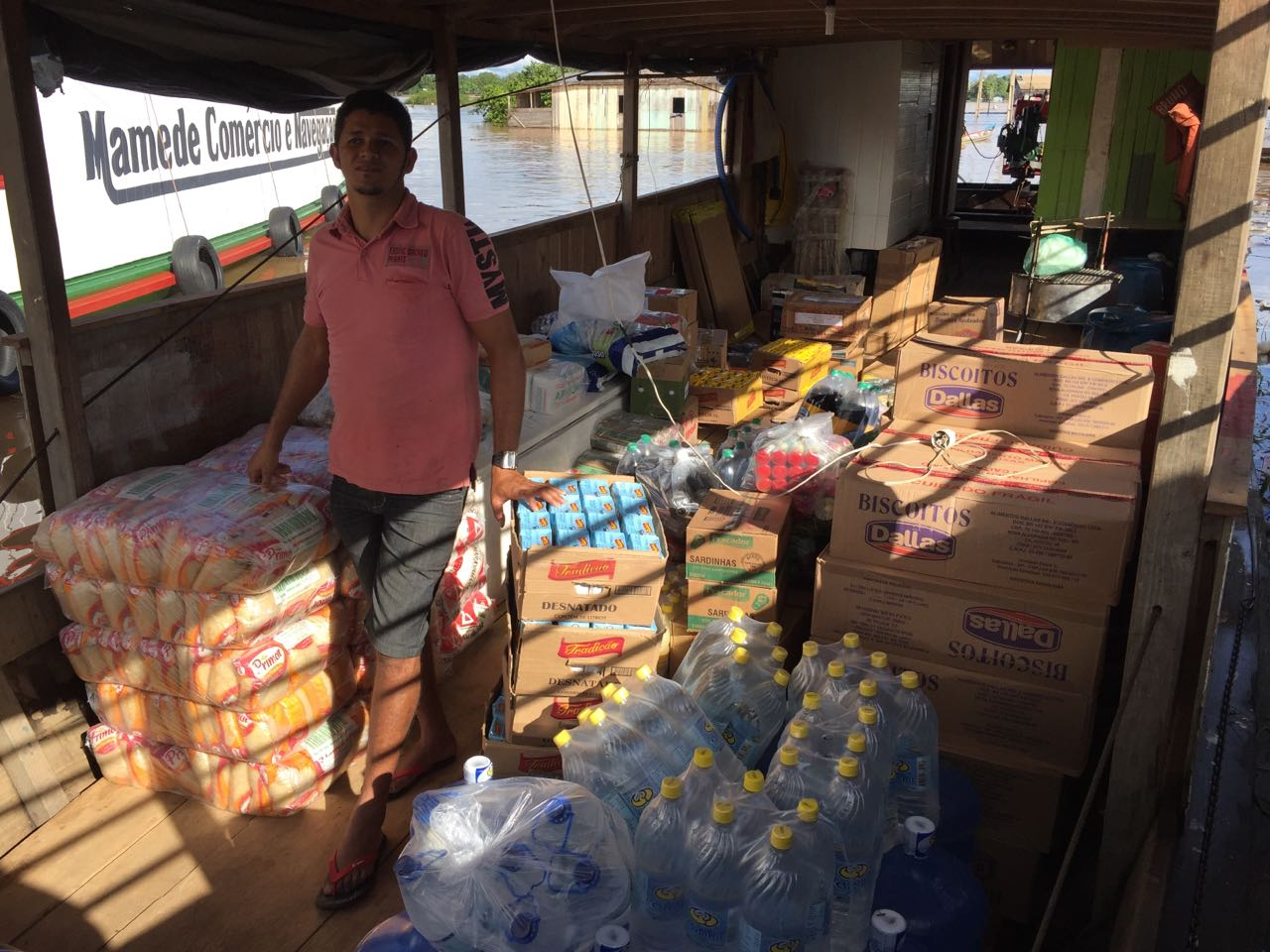 First round of supplies loaded unto Barco Bruno