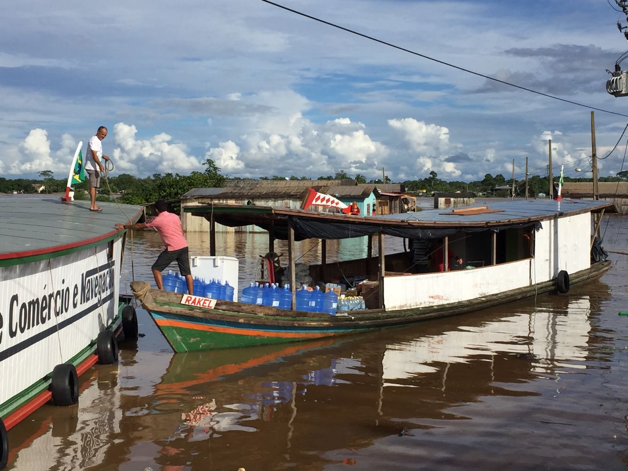 Our supply boat, the Rakel, getting loaded