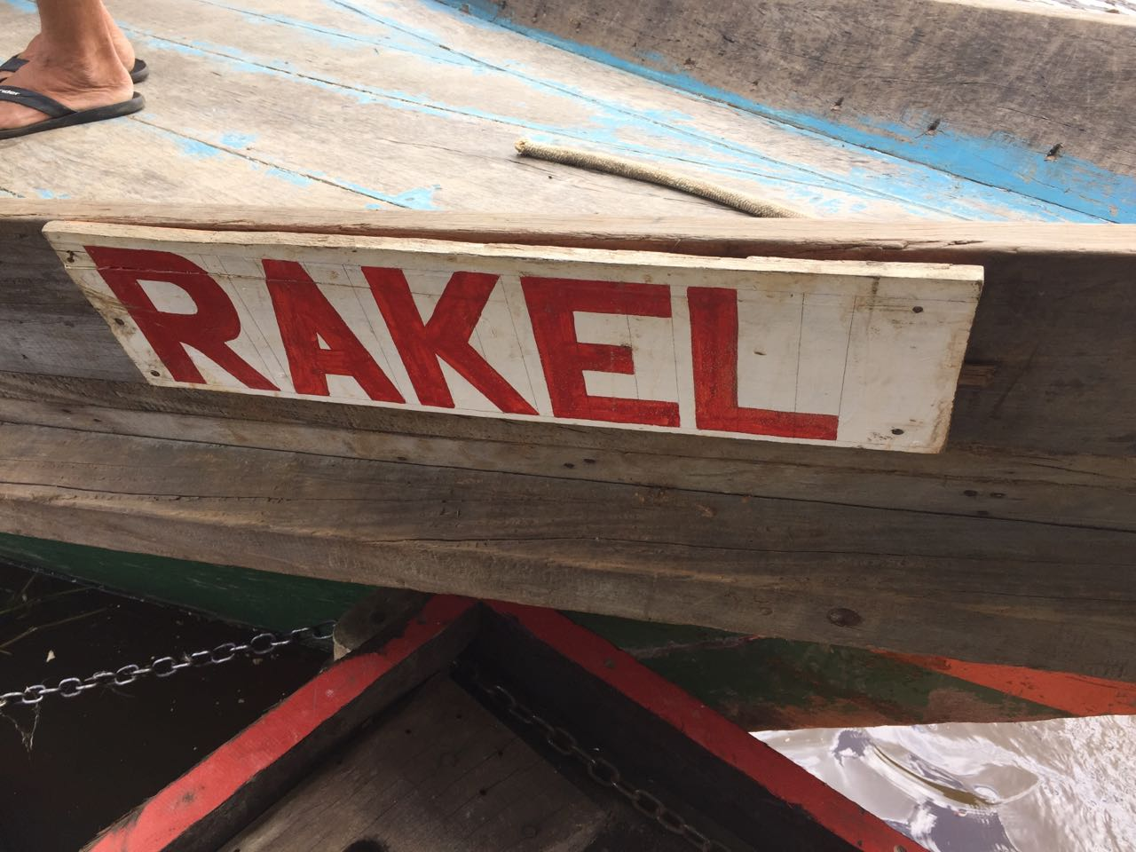 Our supply boat, the Rakel