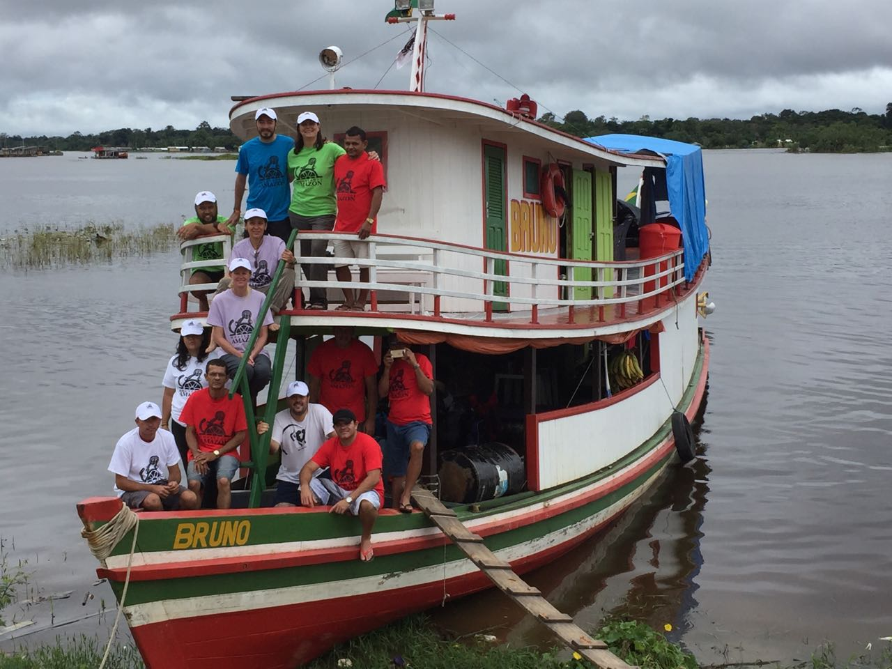 The whole team about ready to depart for the River Eiru.