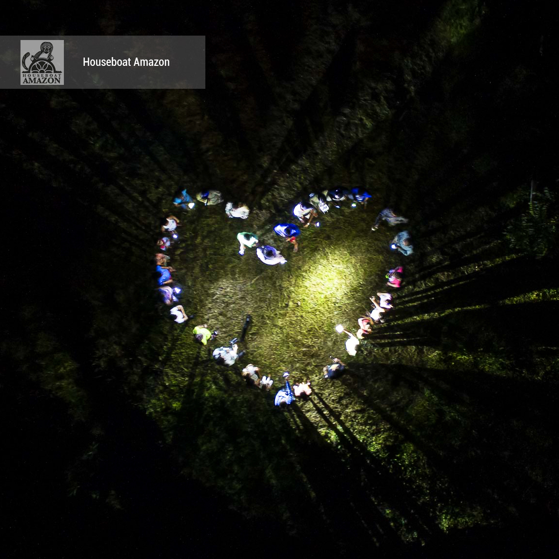The Flores community members get into the spirit of Valentines Day and help us make a special night surprise. – this is the heart at night photos
