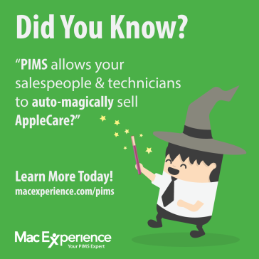 Automatically sell AppleCare with PIMS