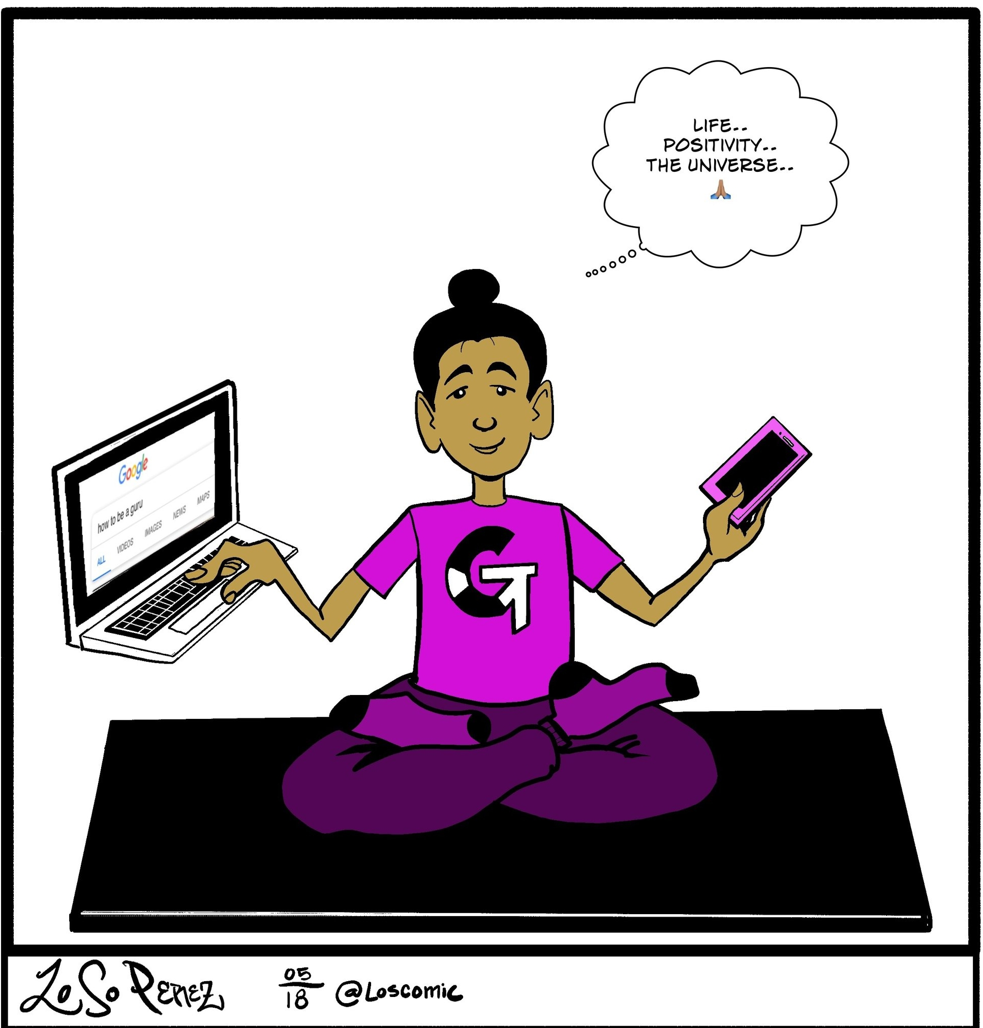 """The Google Guru"" Illustrated by  Loso F. Perez"
