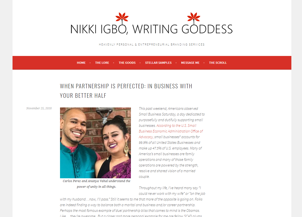 Interview with Nikki Igbo, the Writing Goddess -