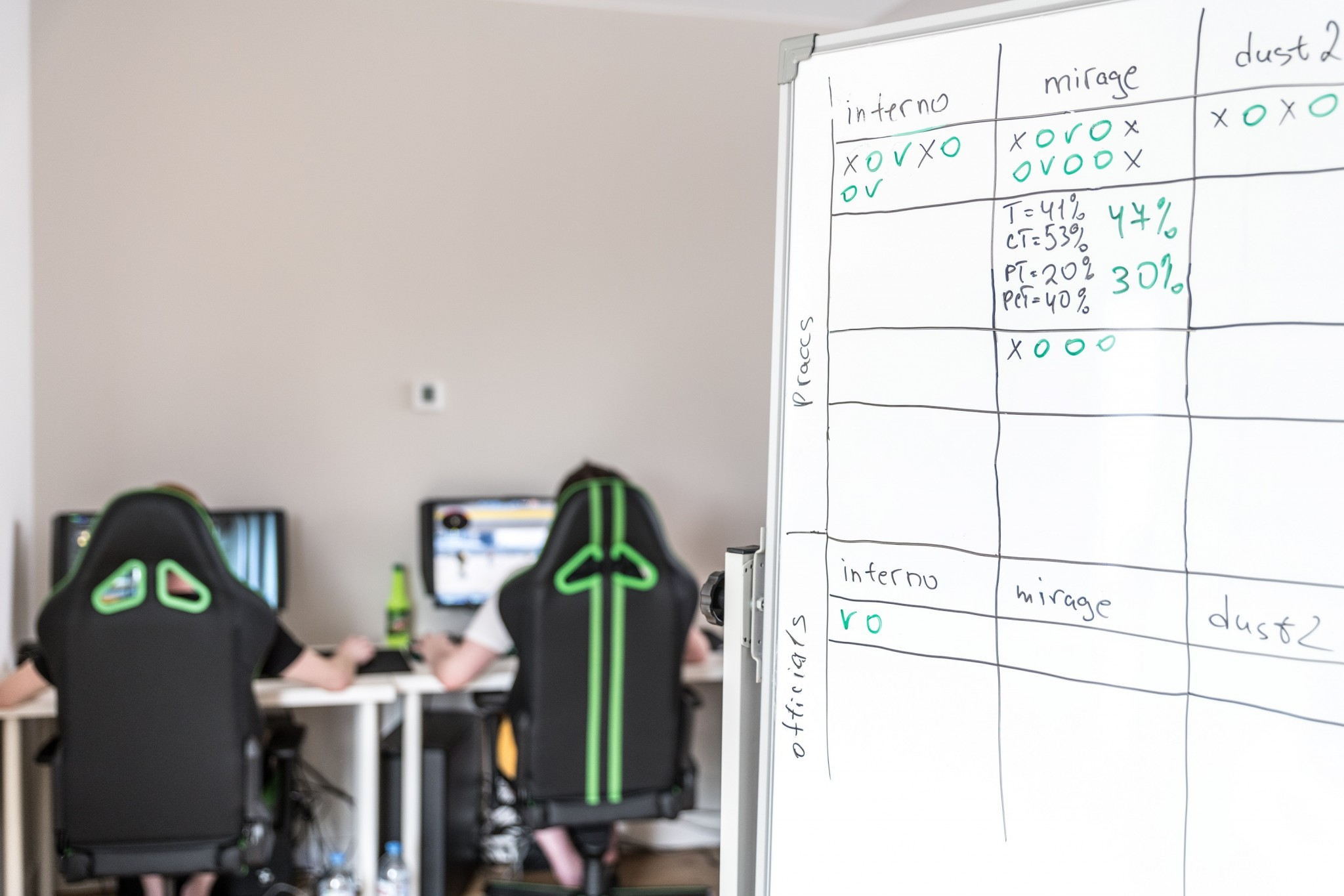 The room where Monolith's players spend many of their waking hours. Photo: Skoltech.