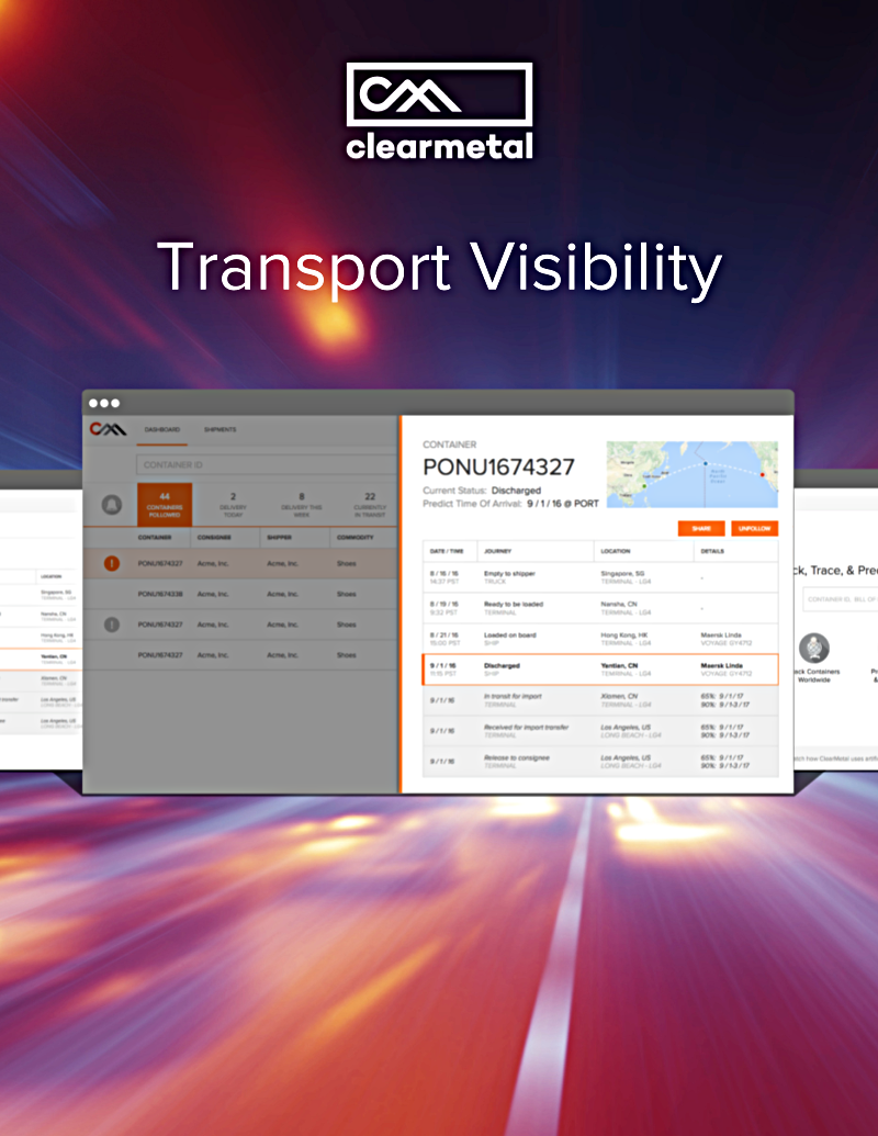 ClearMetal Launches Predictive Transport Visibility -