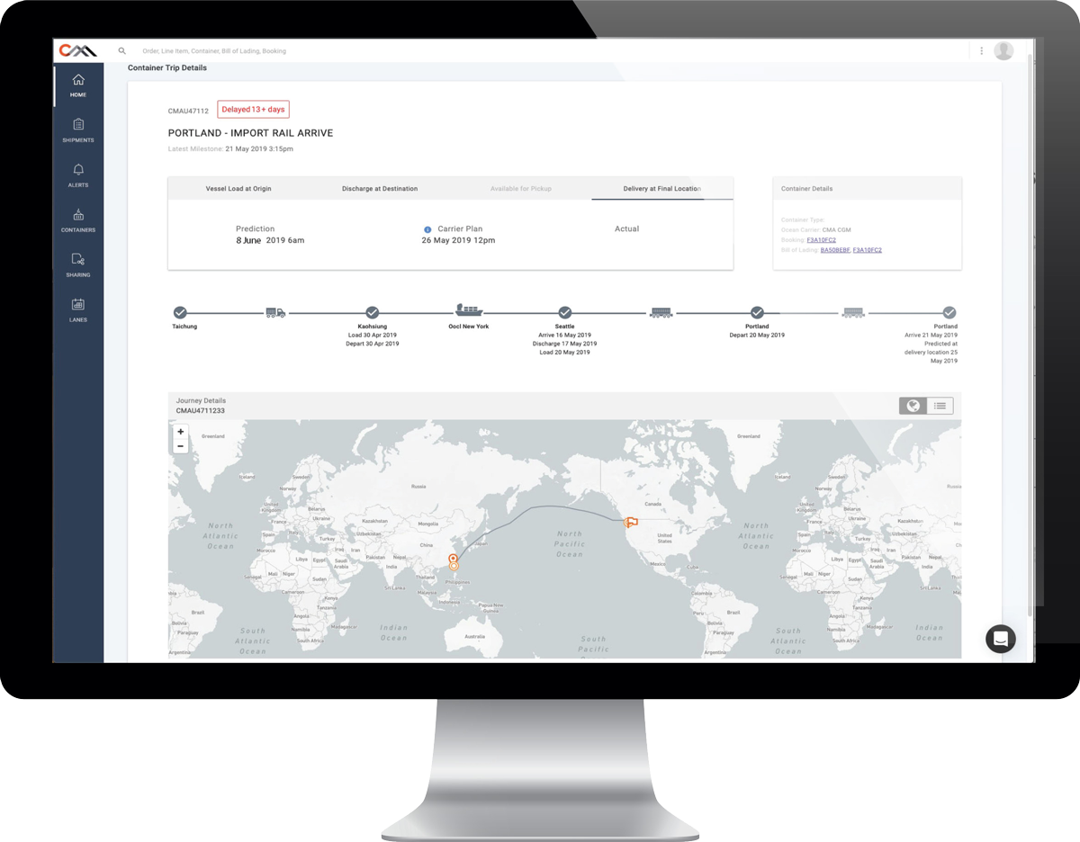 Continuous Monitoring - Continuously monitors all inventory-in-transit for you, based on the most trusted data available, and surfaces line-item level exceptions you need to care about when you need to care about them.