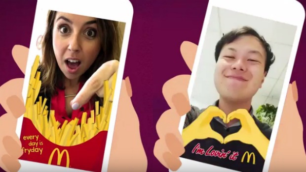 An example of McDonald's humorous geofilters in action.