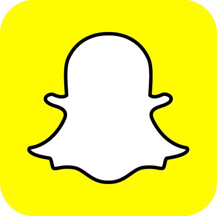 Snapchat's oh so familiar 'ghost' logo.