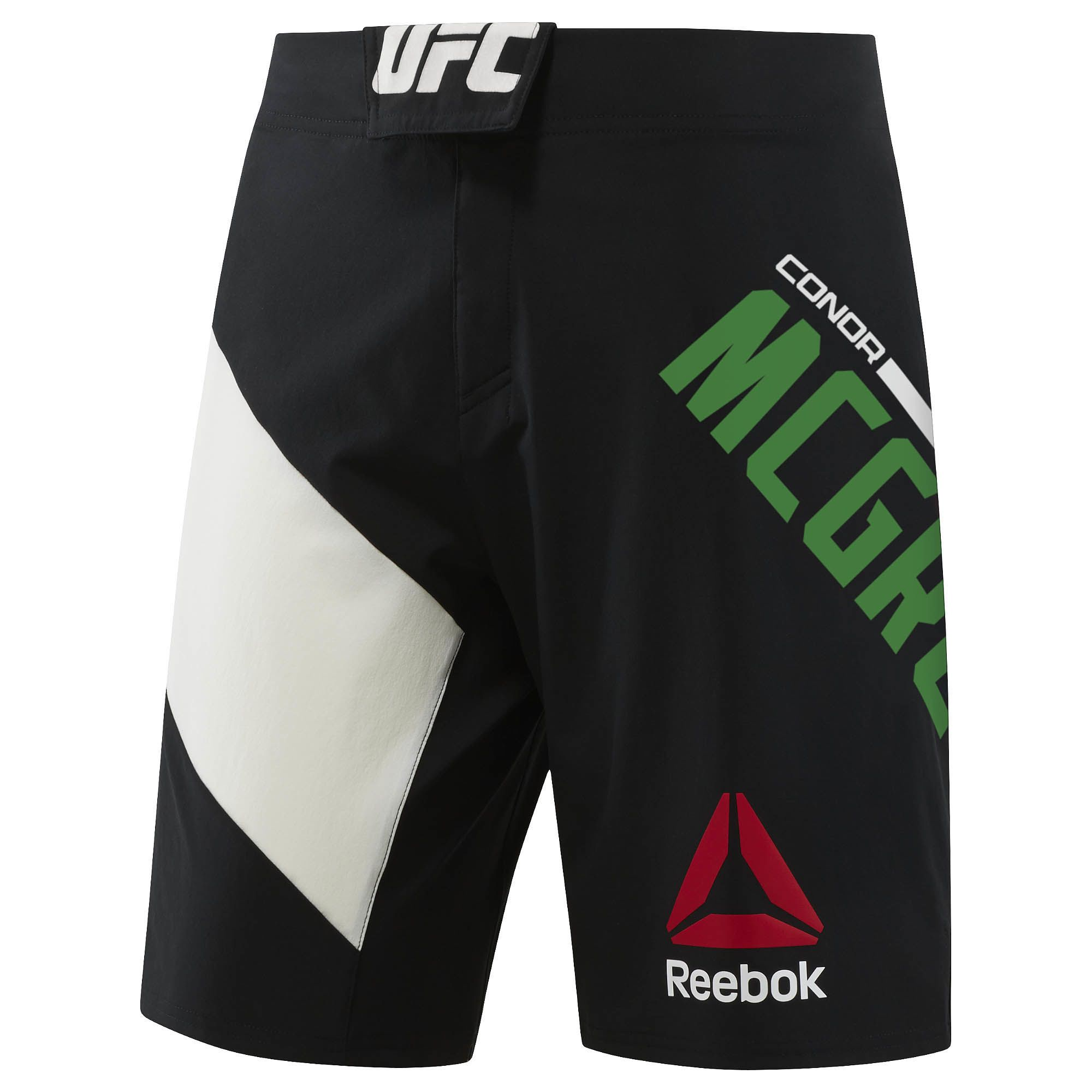 A pair of personalised McGregor Reebok shorts available for purchase.