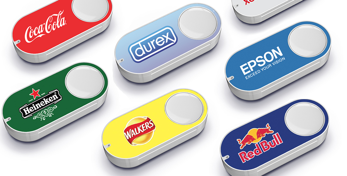 A selection of popular Amazon Dash Buttons.