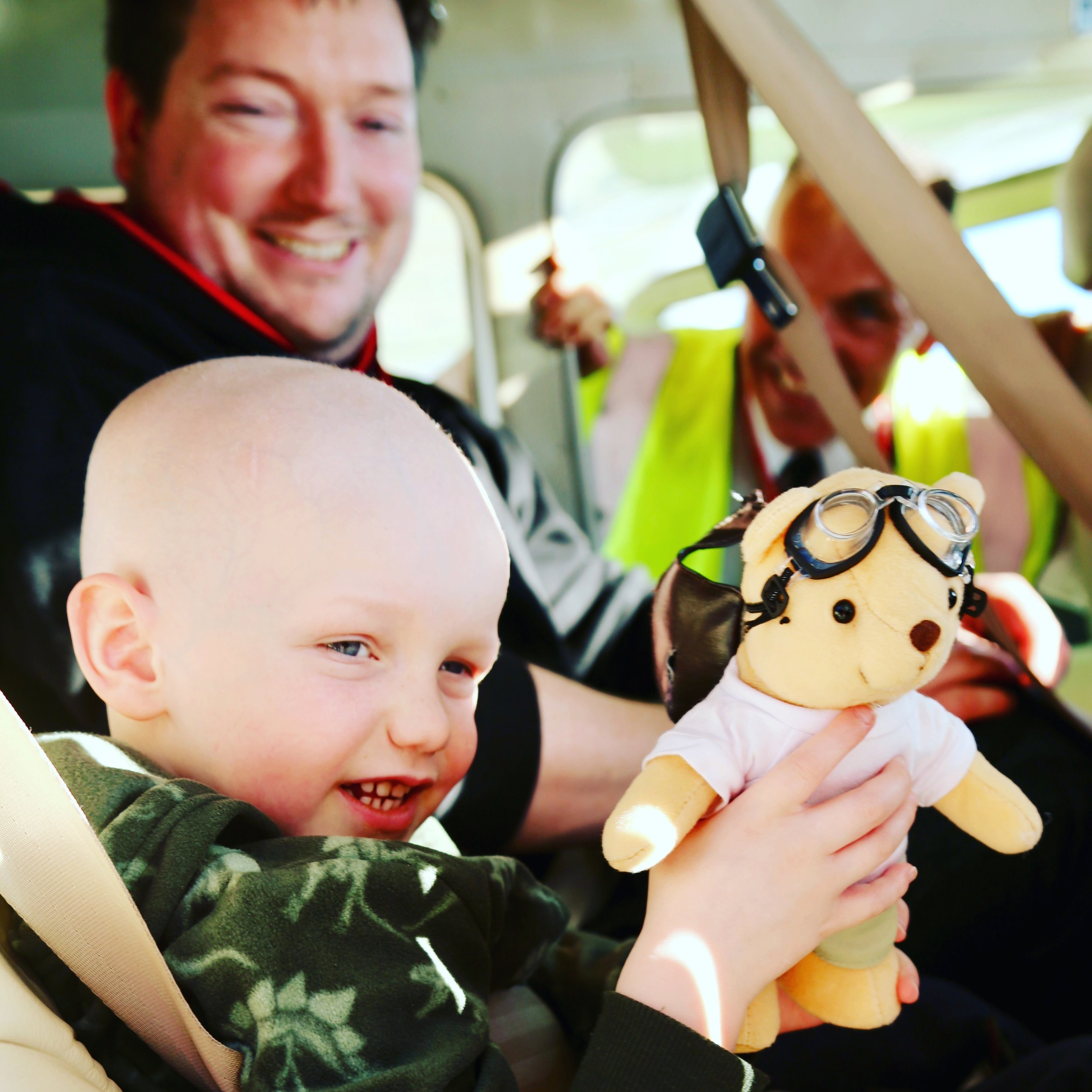 £25 a month - A regular gift of £25 will allow ten people every year to take a flight across the UK, either for a vital medical appointment, an important family occasion, or a once-in-a-lifetime day out