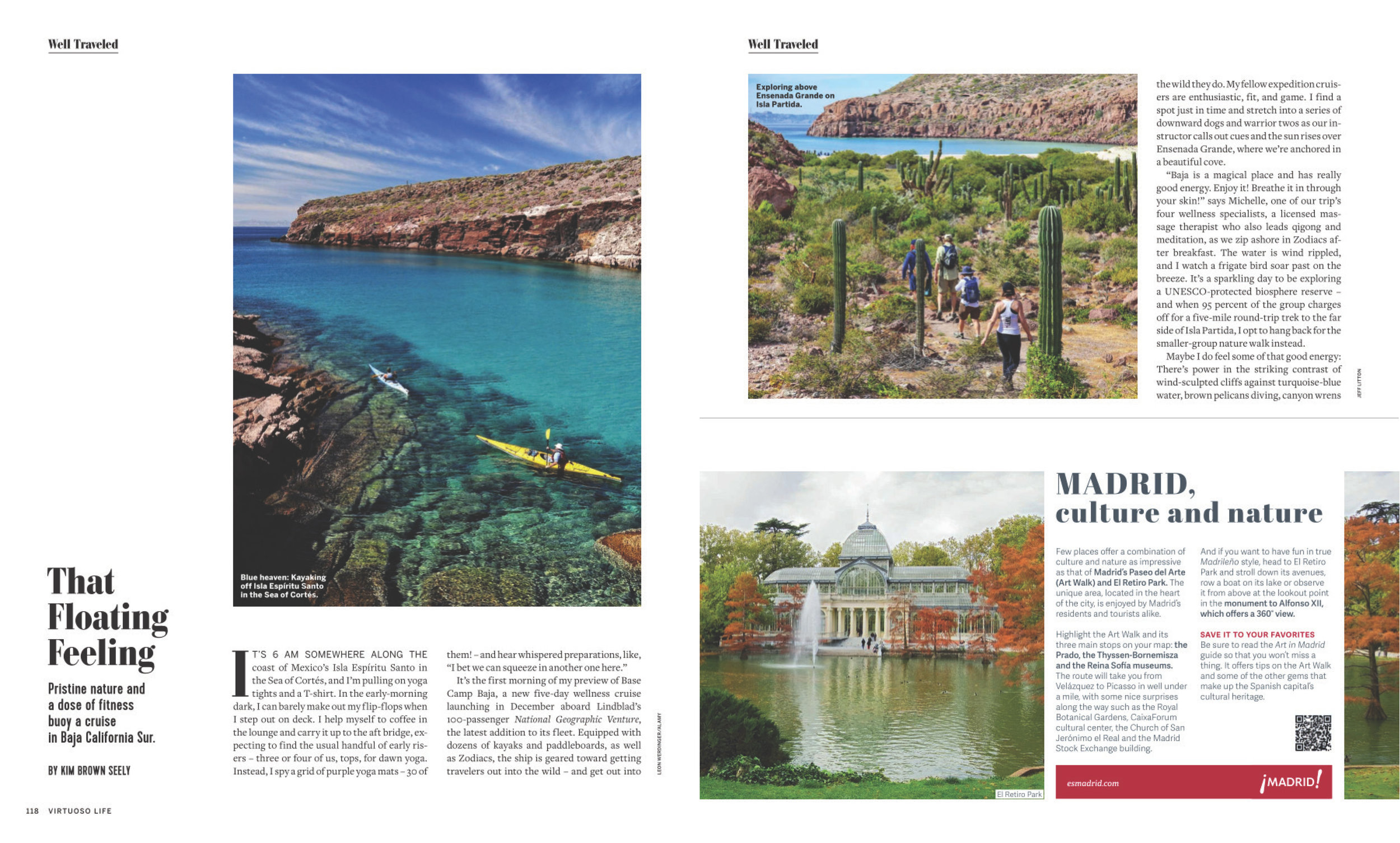 Blue heaven: Kayaking off Isla Espíritu Santo in the Sea of  Cortés