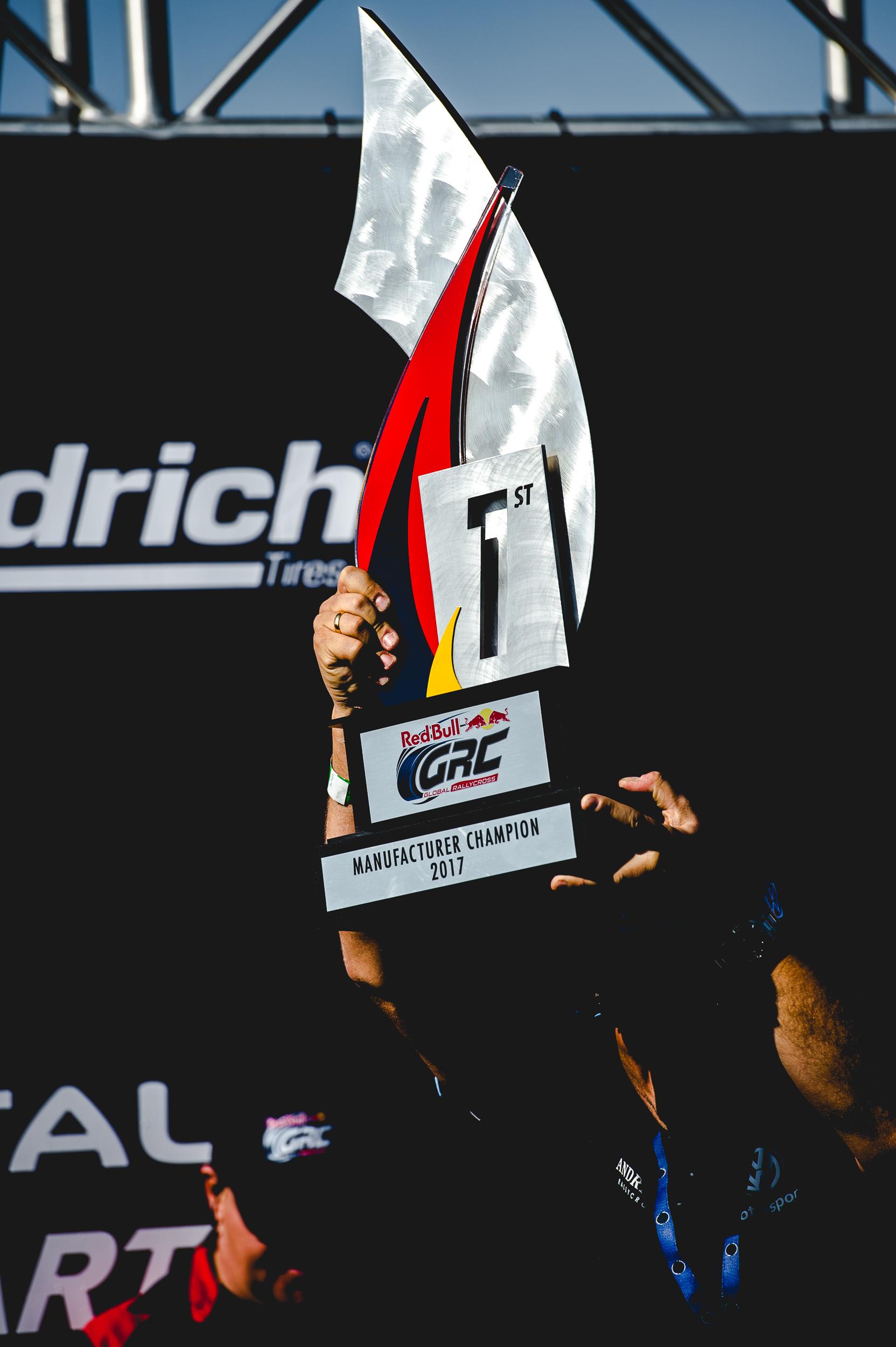 2017 Red Bull GRC Supercar Division Manufacturer Champion:  Volkswagen Andretti Rallycross