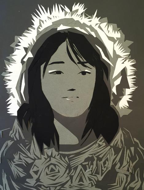 God's Dandruff (collage) - Julie Peng