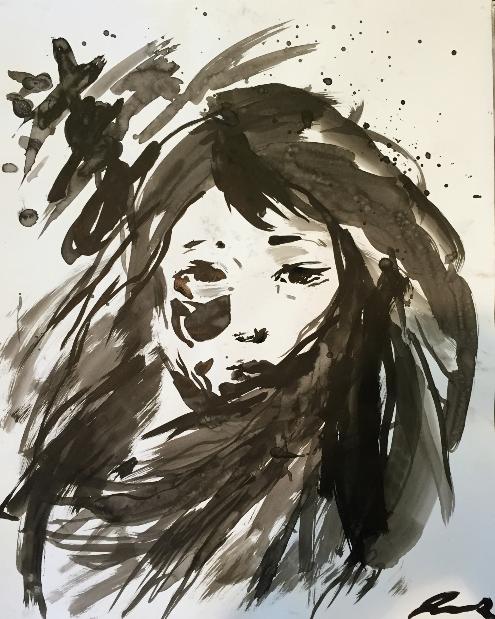 Ink Hair (ink) - Julie Peng