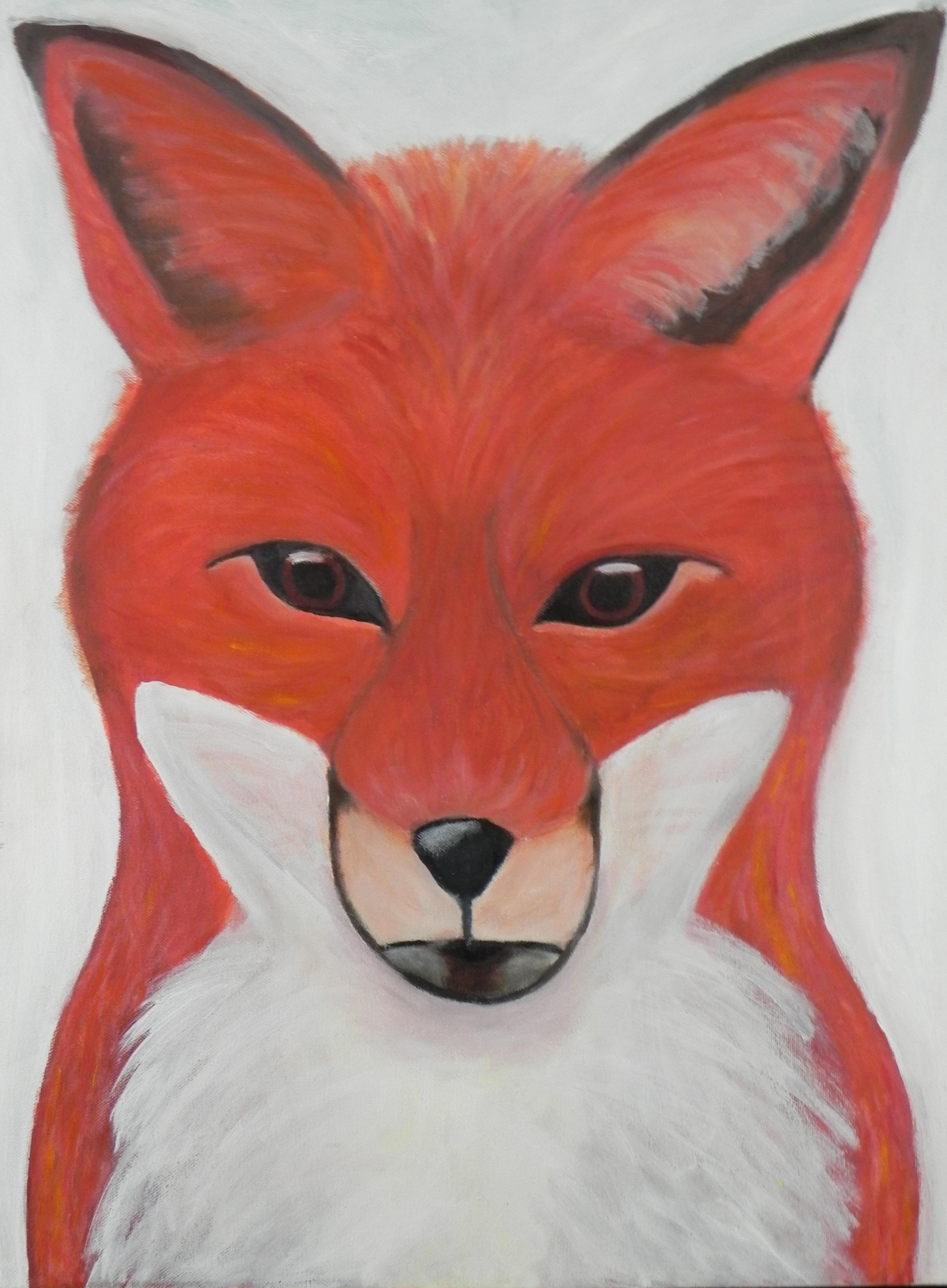 Auburn Fox (acrylic) - Sophie Taibl