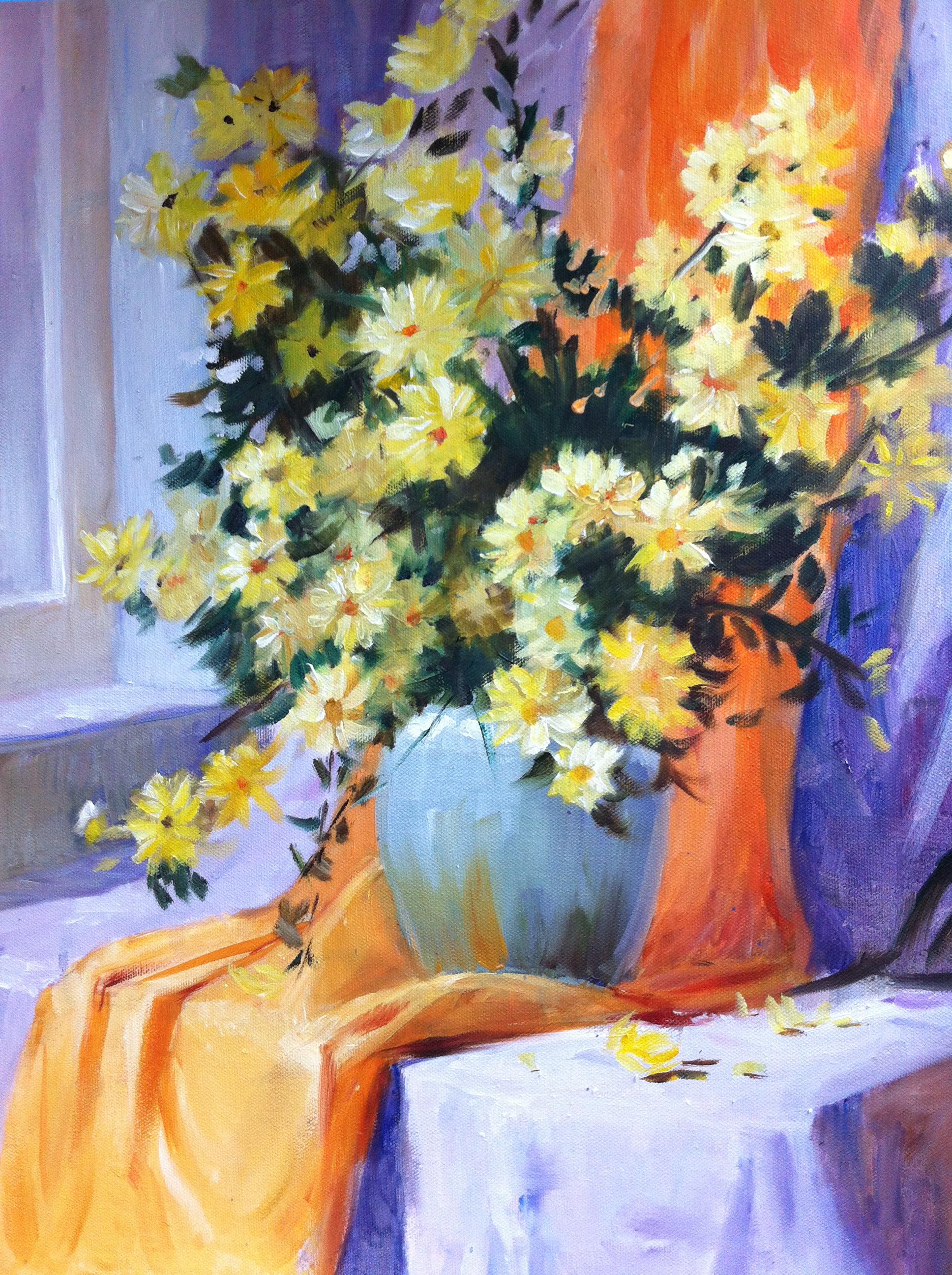 Flower Painting (oil) - Angela Liu