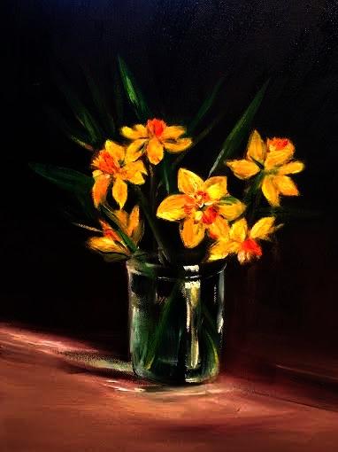 Daffodils (oil) - Julie Peng