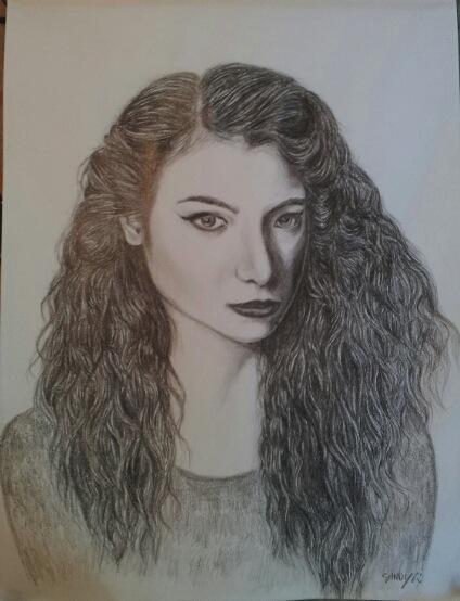 Lorde (graphite) - Sandy Li
