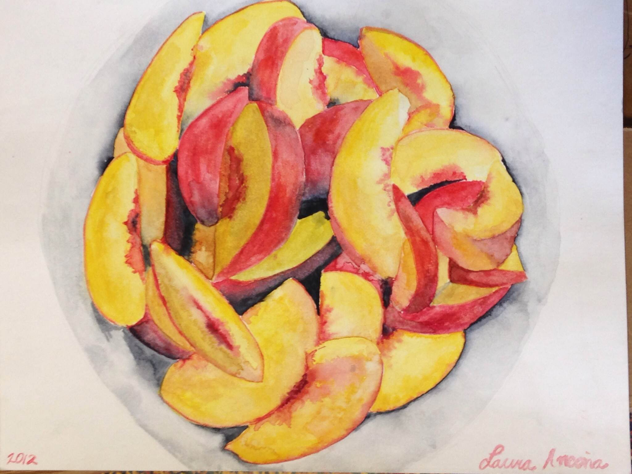 Peaches (watercolor) - Laura Ancona