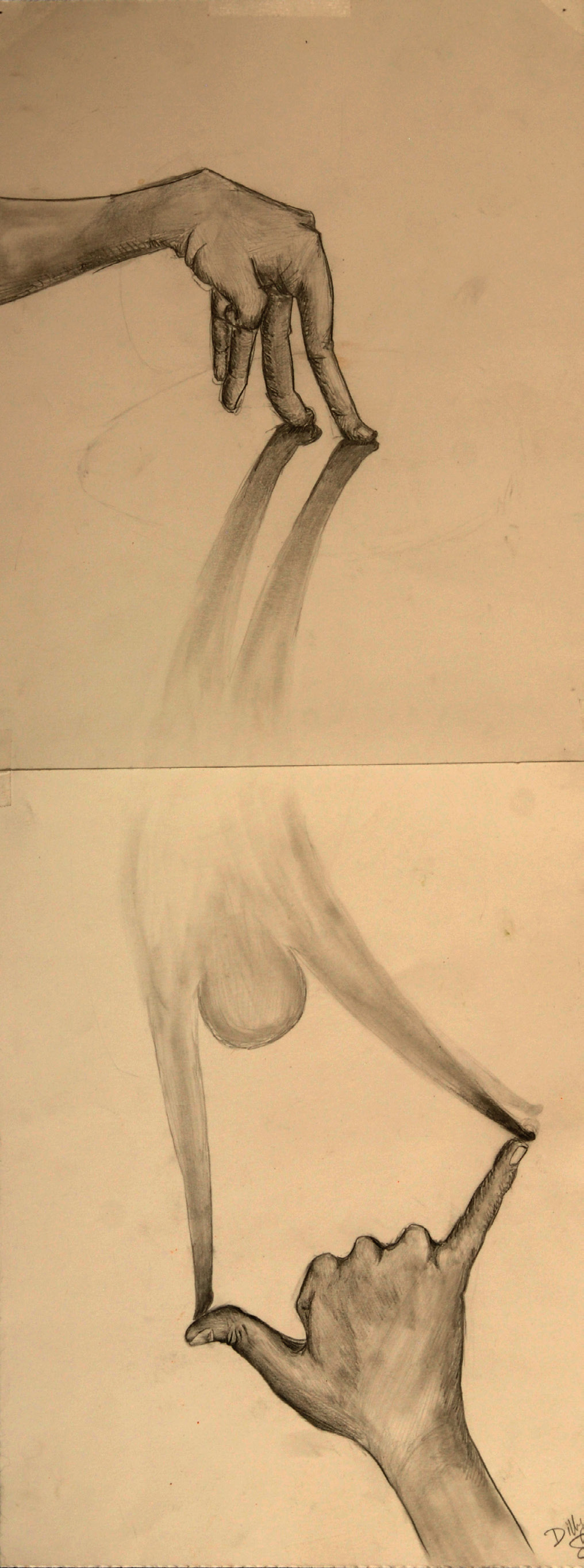 Finger Being (pencil) - Dilly Sanborn-Marsh