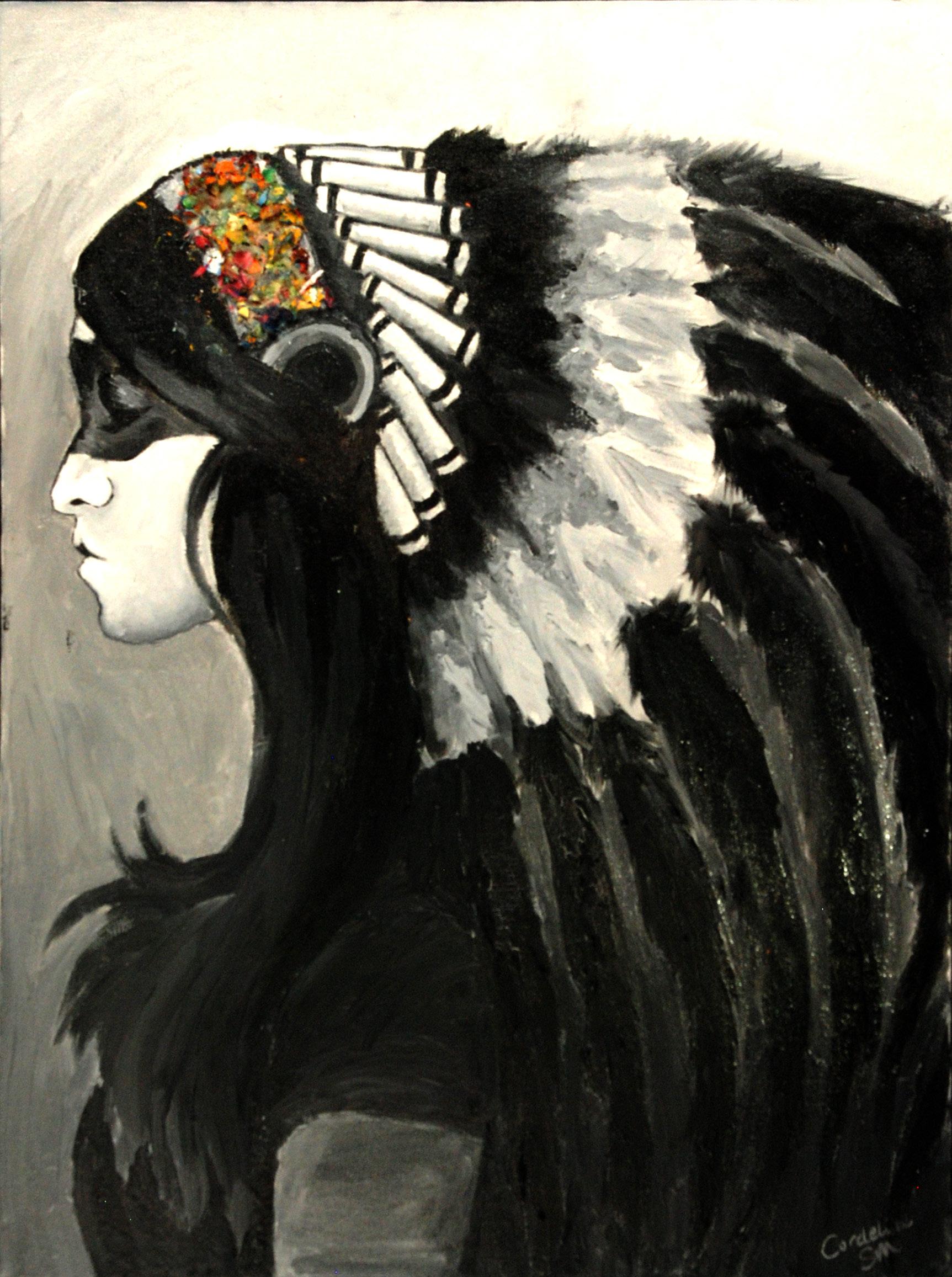 Headdress (acrylic) - Dilly Sanborn-Marsh