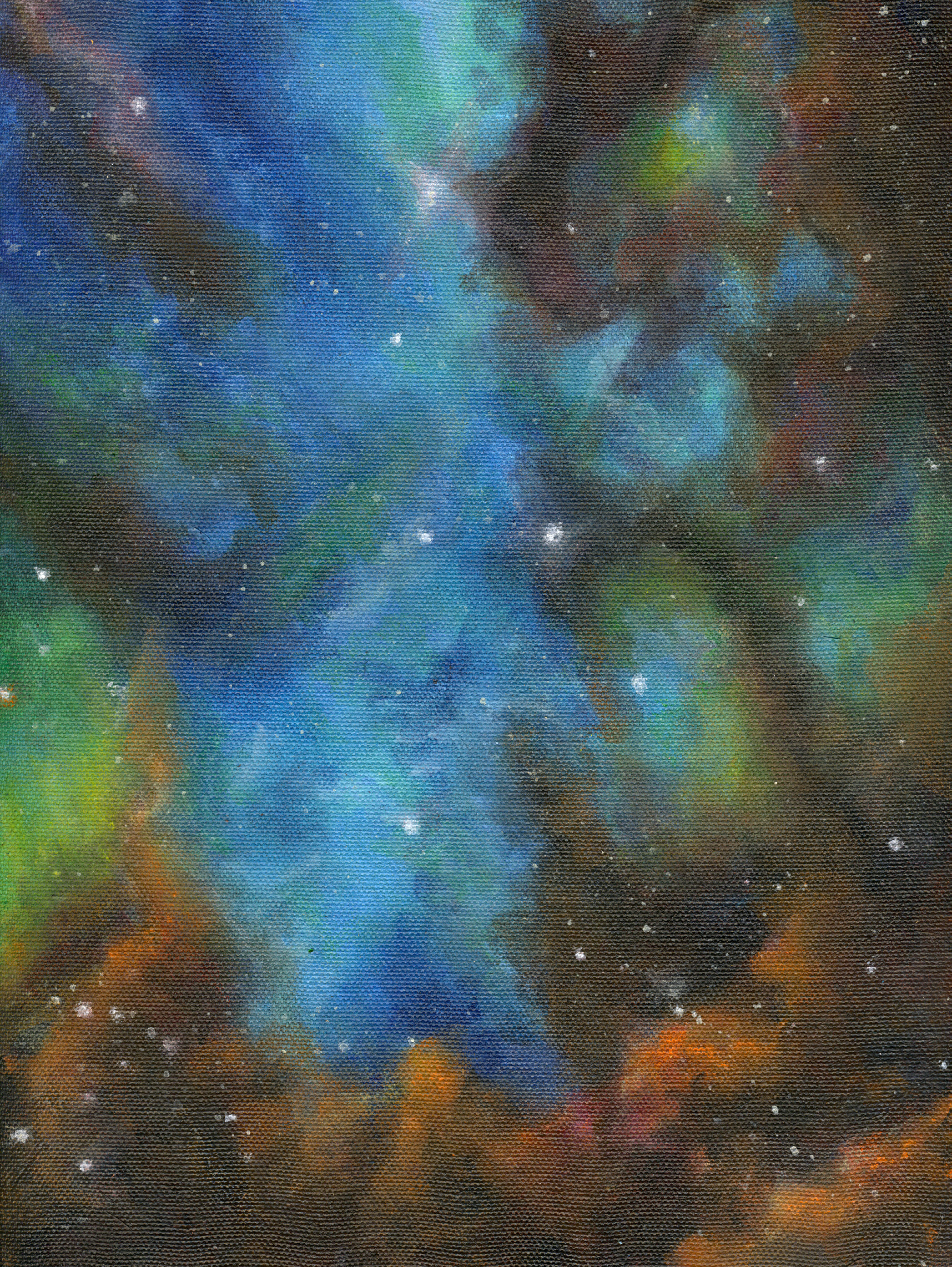 Tarantula Nebula (spray paint) - Sandy Li