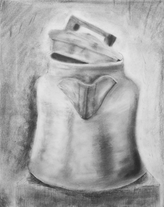 The Kettle (charcoal) - Cami Fitzgerald