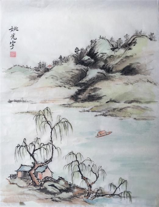 Drifting (watercolor) - Sandy Li