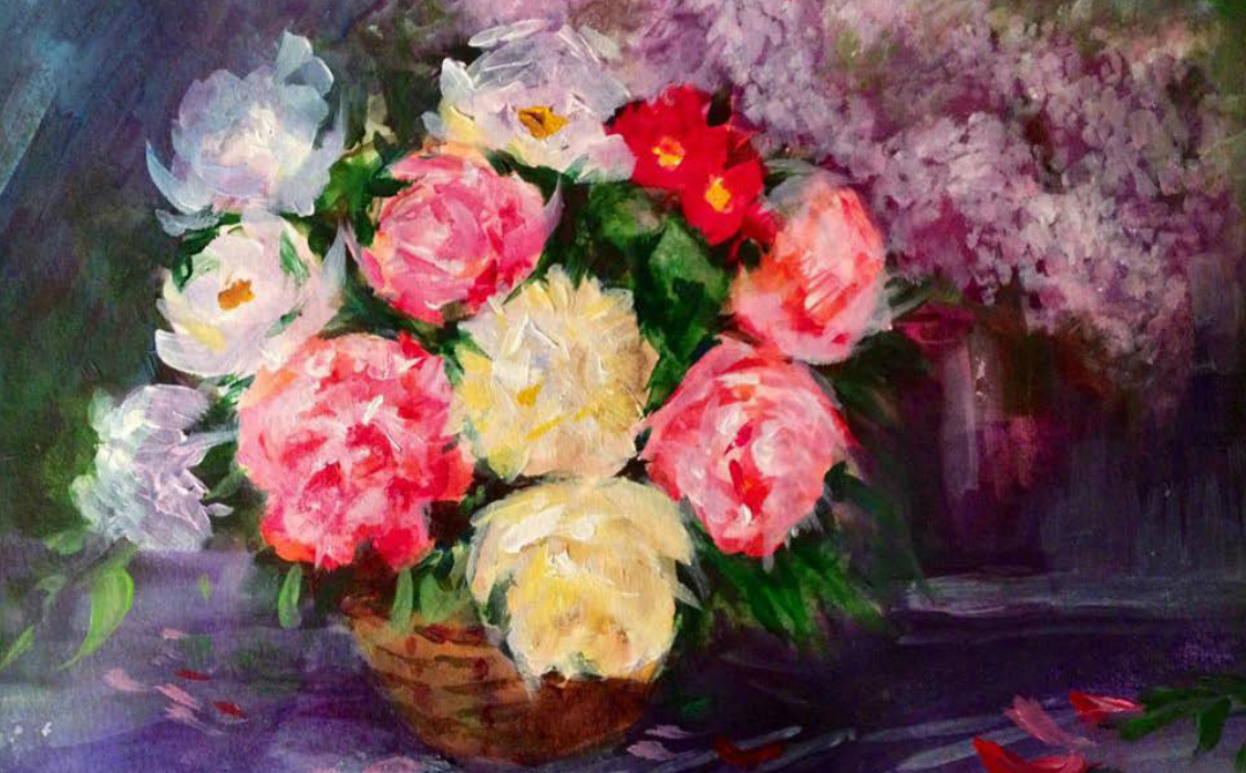 Flowers (oil) - Julie Peng