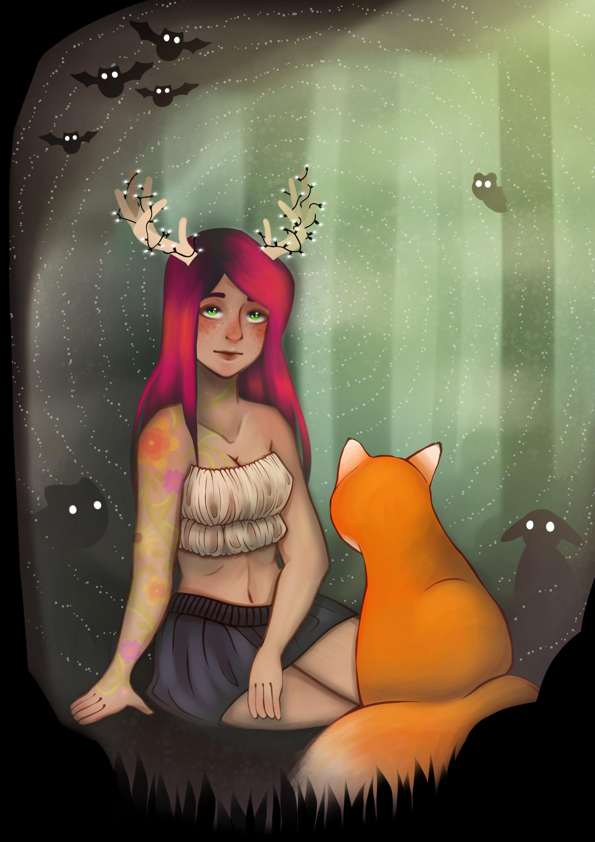 Deer in the Headlights (digital) - Lana Tilke