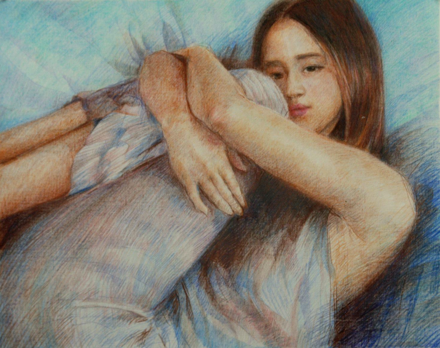 Form (colored pencil) - Julie Peng