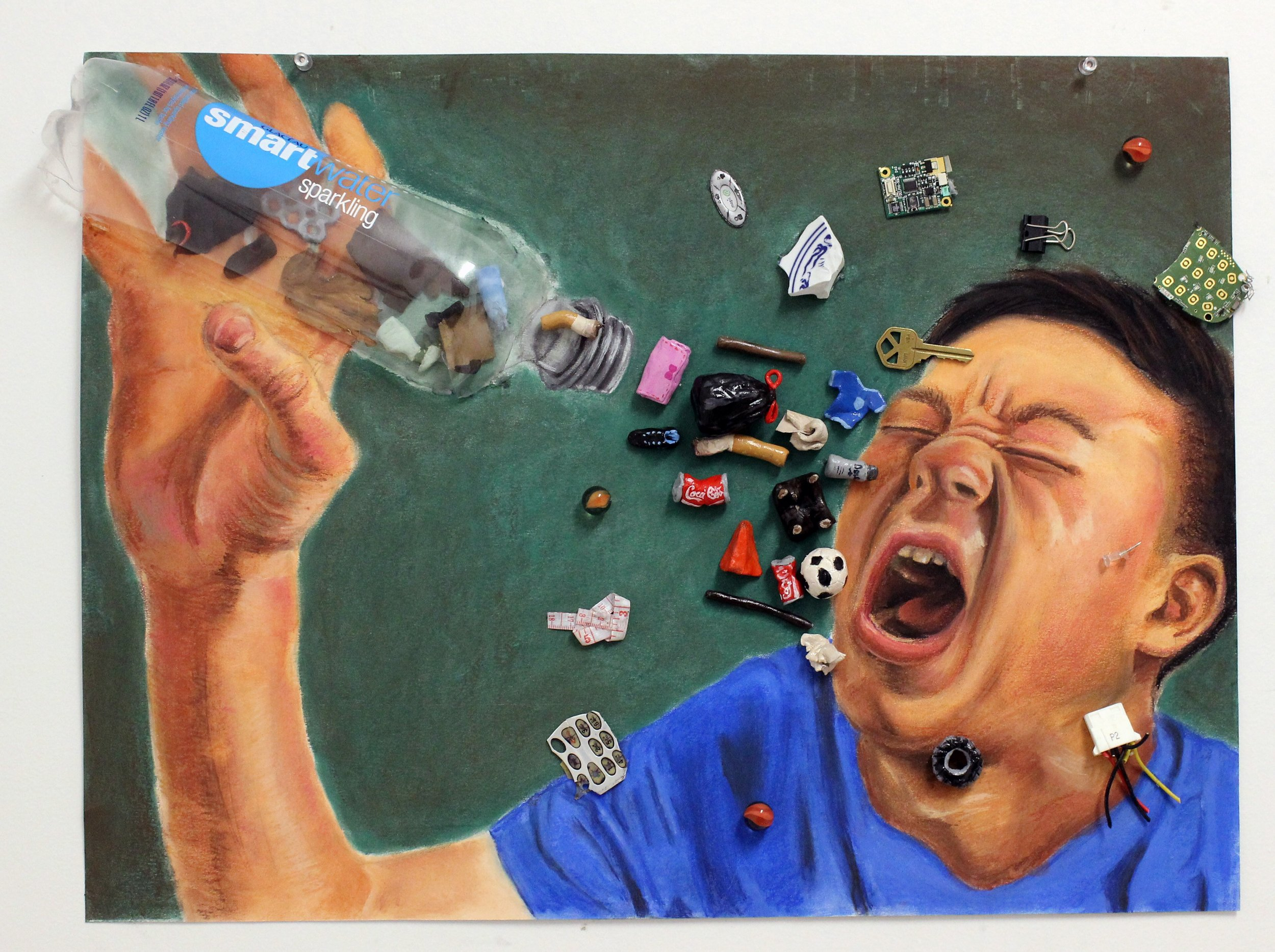 What We Drink (soft pastel and acrylic paint) - Justin Kim
