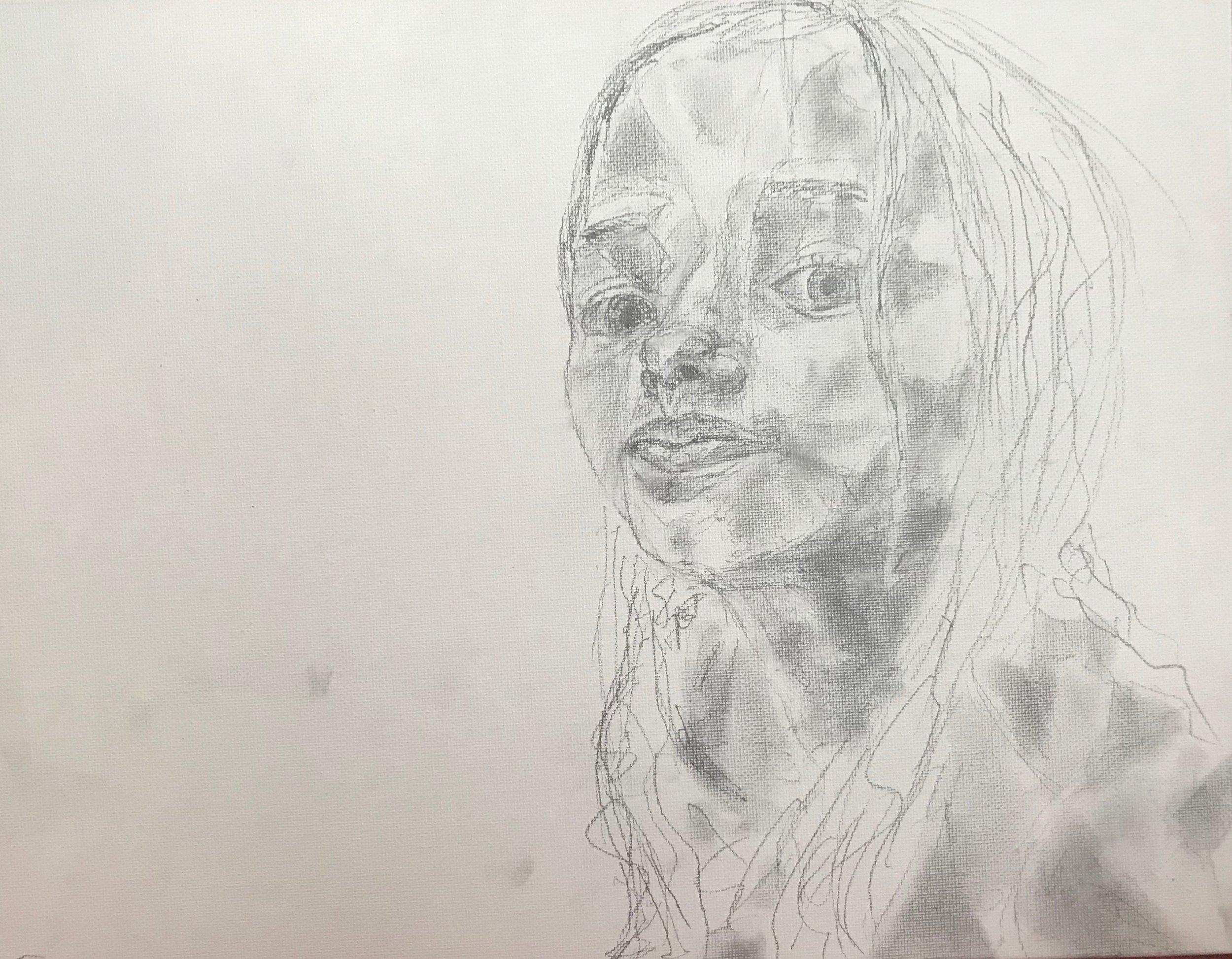 Lily (graphite) - Victoria Barrow