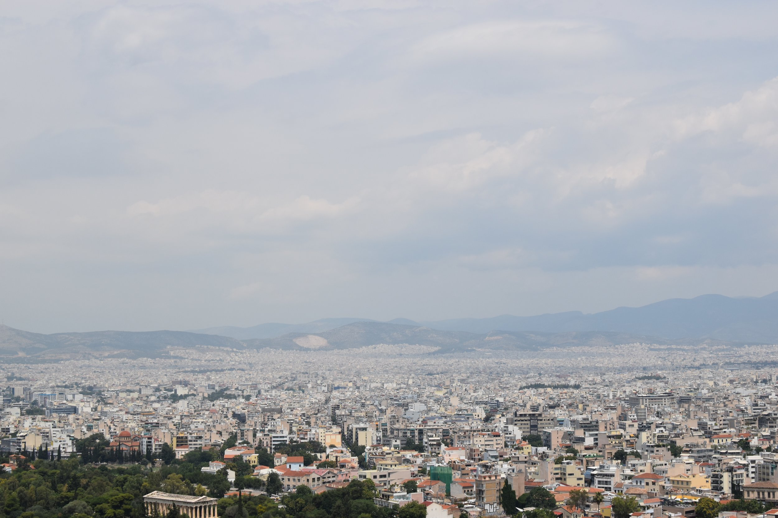 Clouds Over Athens - Klara Kuemmerle