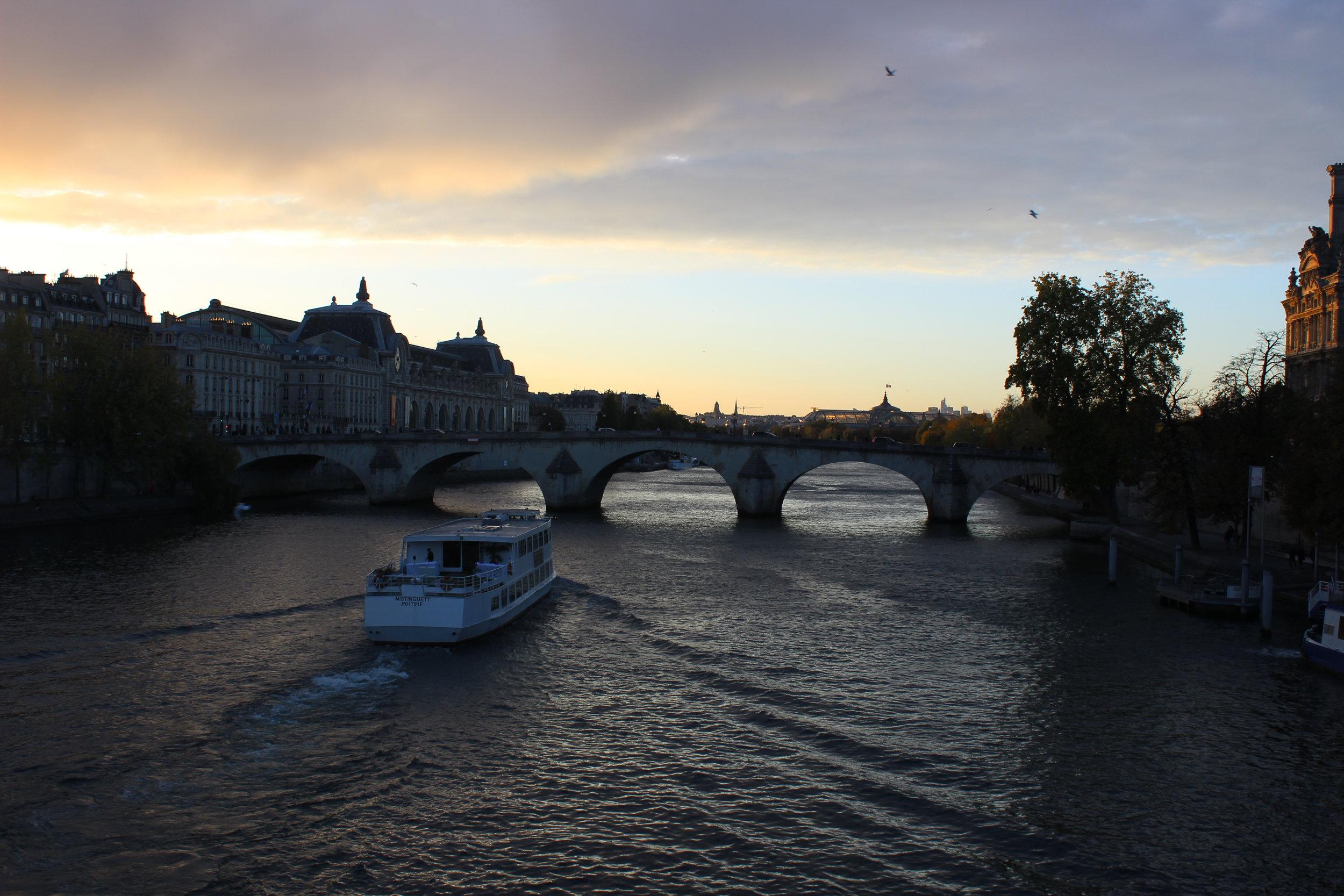 Seine River Boat - Chloe Fandetti