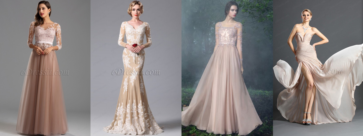 EDRESSIT.COM - These gowns is available from eDressIt.com. I've personally seen each and they are all STUNNING. Here on their  Best Sellers list  you'll find a stunning variety of fabulous rainbow colored gowns.