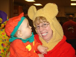 Director, Chris Farris, enjoying some Halloween fun with the children.