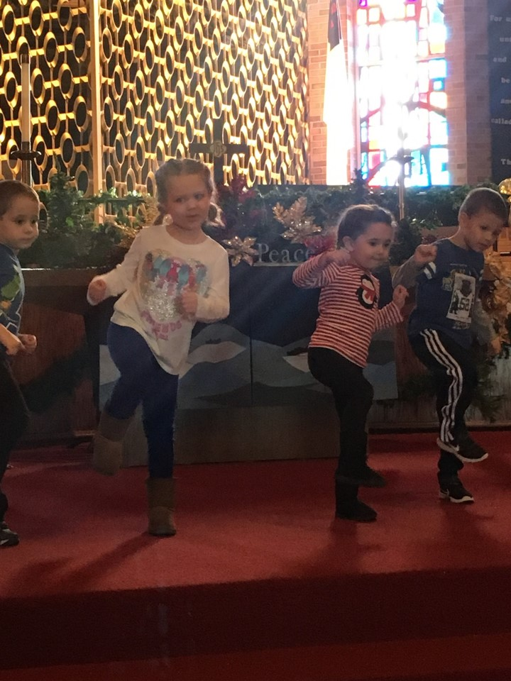 Practicing for Christmas Program