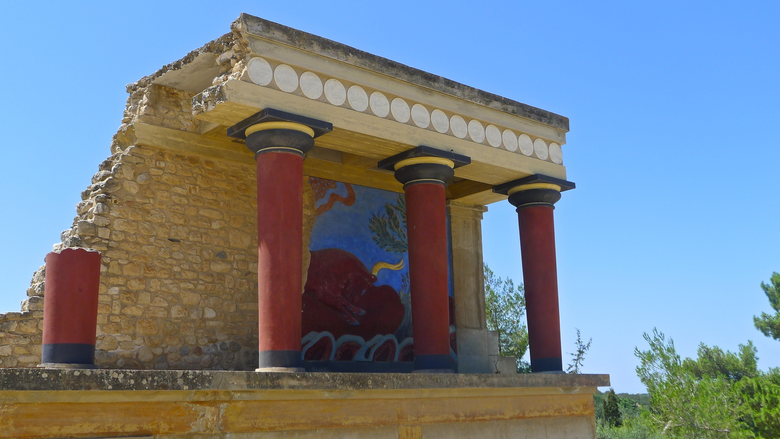 Knossos ruins Heraklion Greece
