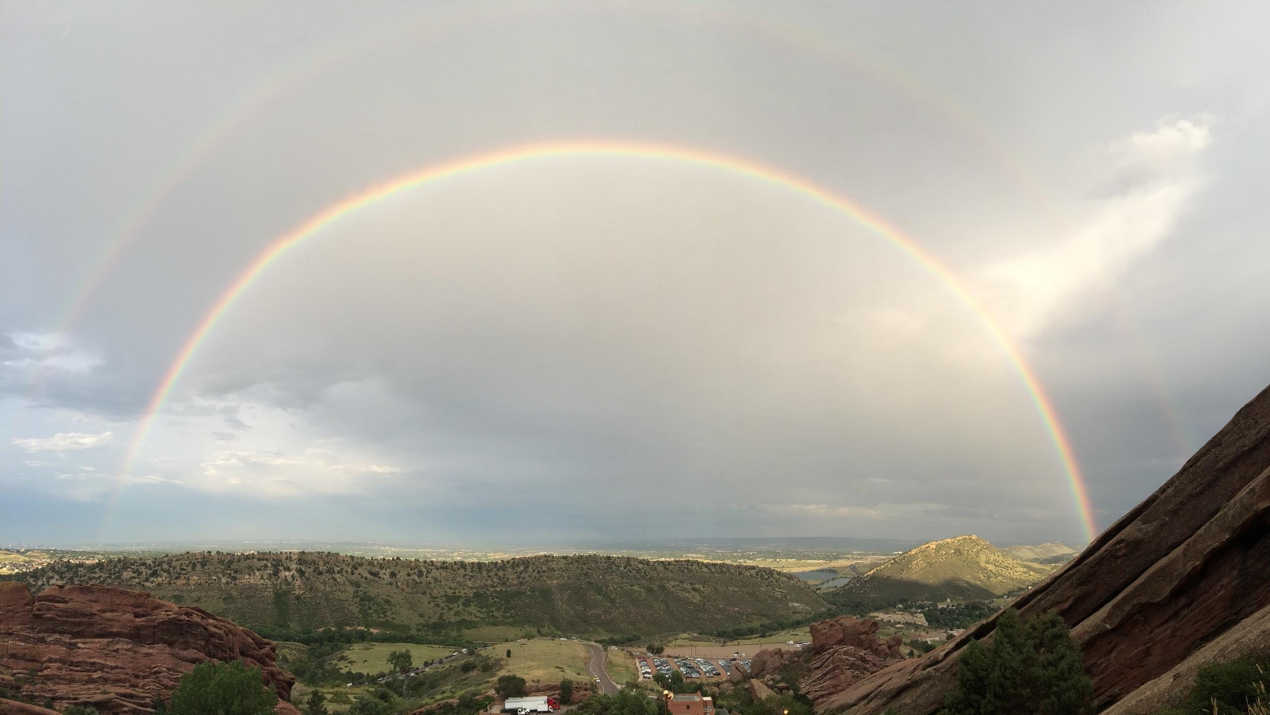 Red Rocks double rainbow