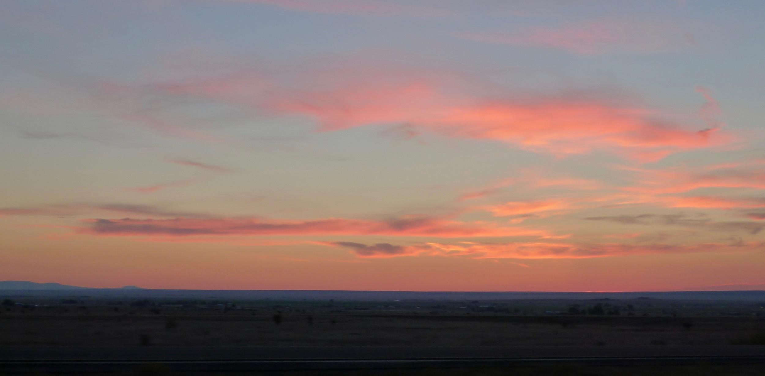 Sunrise outside Albuquerque