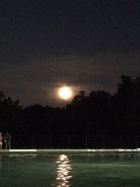 Full moon at Barton Springs