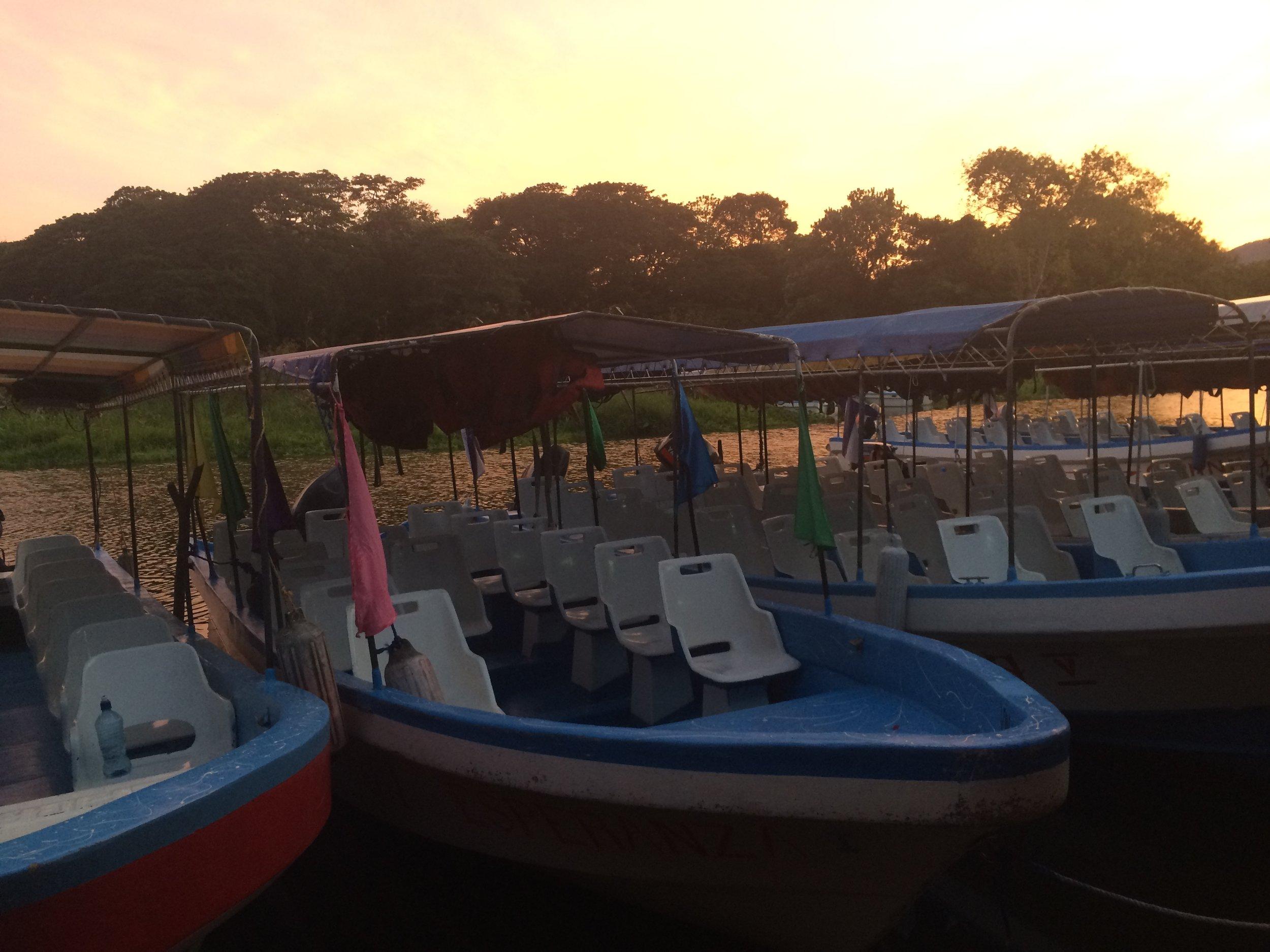 Boats on Lake Nicaragua
