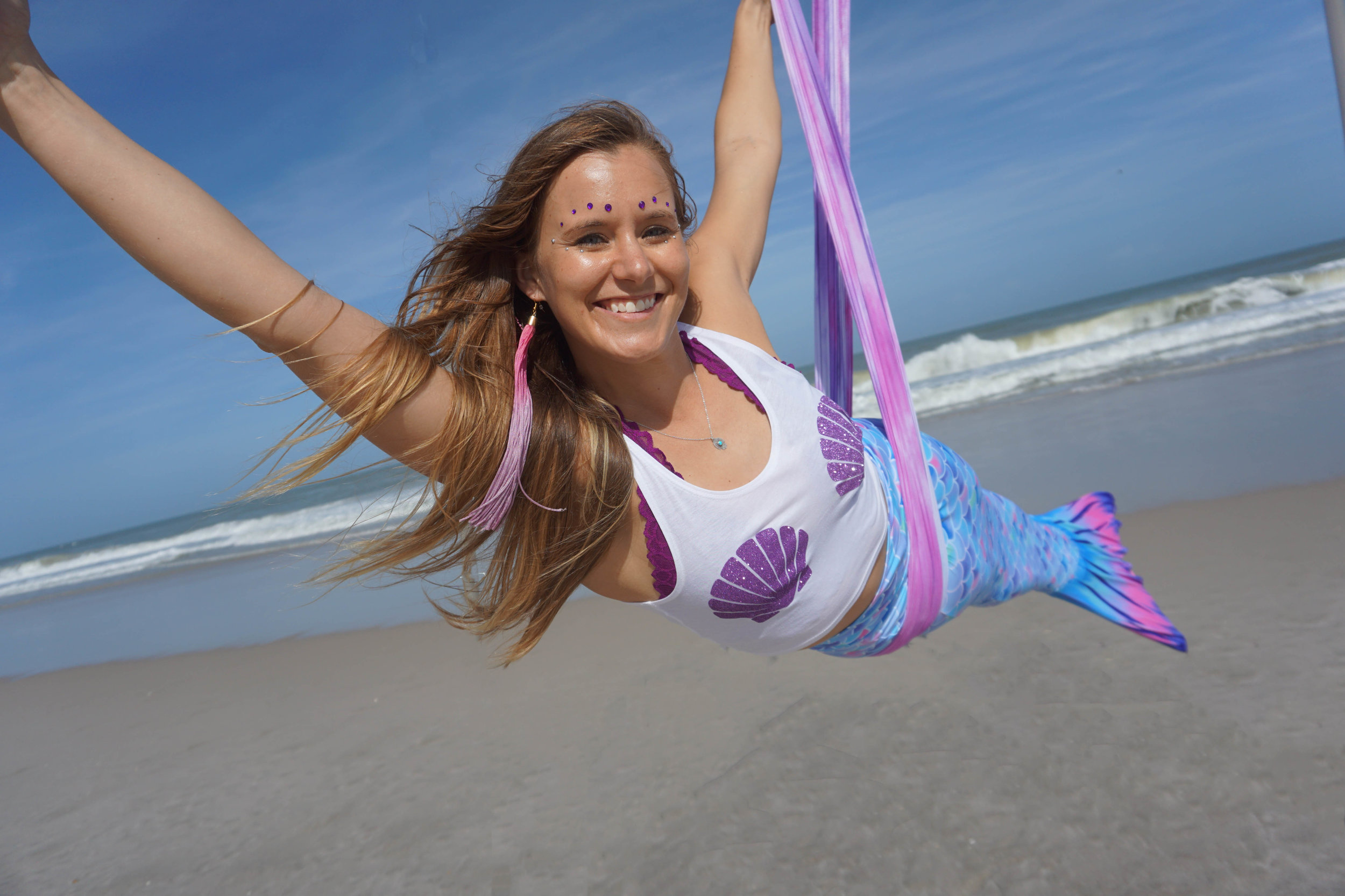 Aerial Yoga Mermaid Goddess