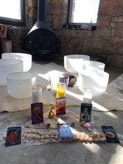 sound bath altar