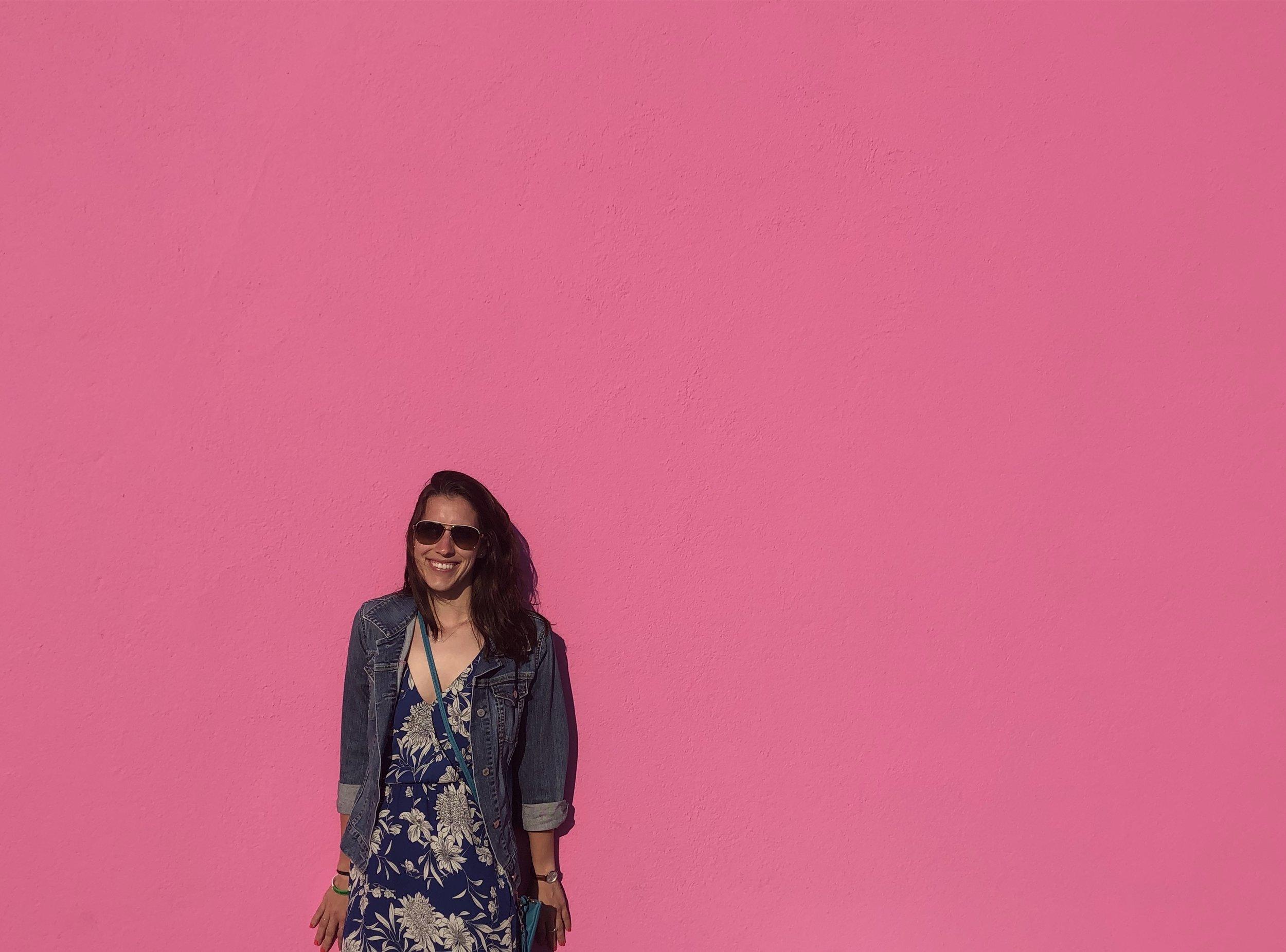 LA Pink wall