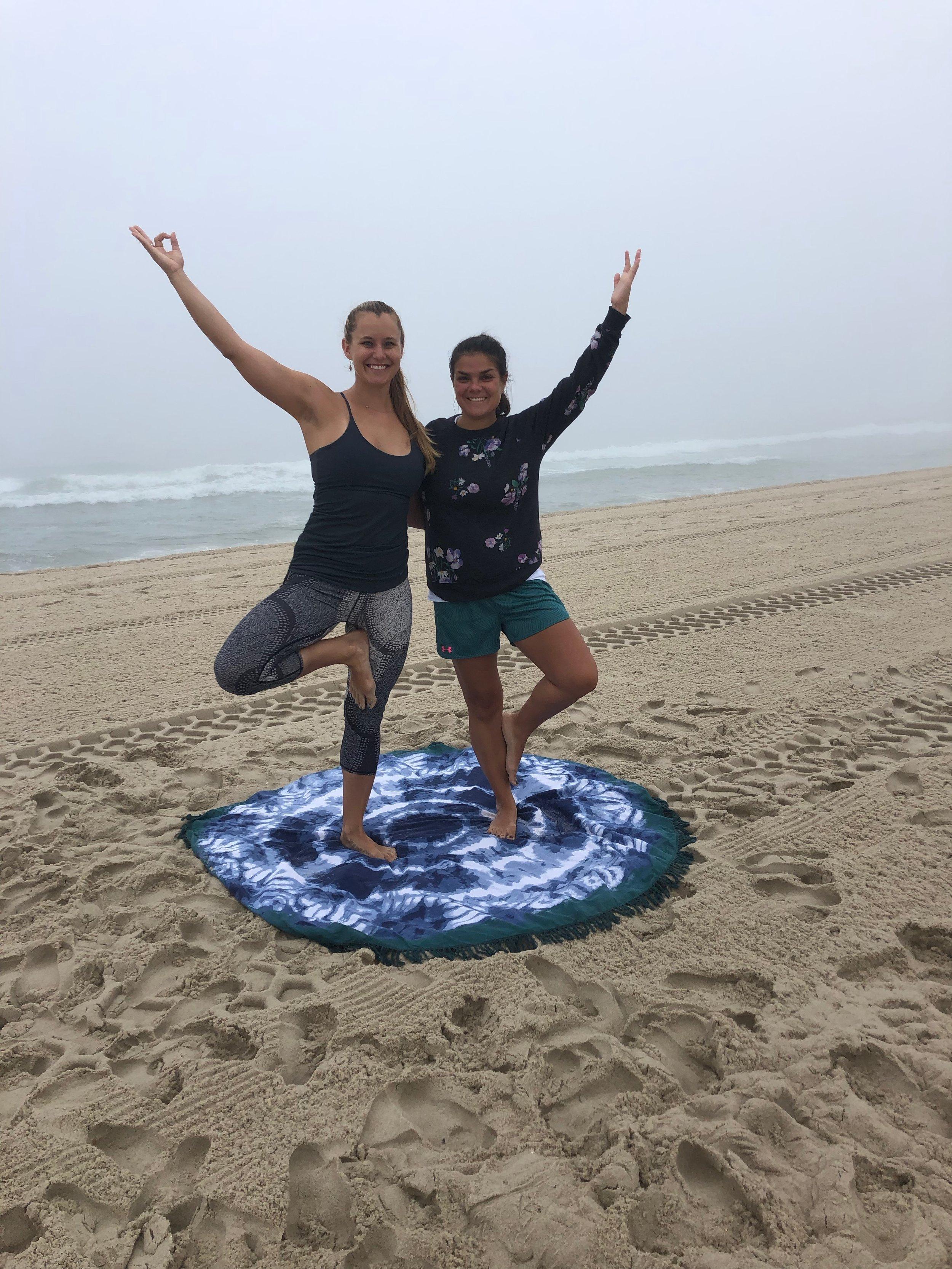 Yoga Bohemia beach yoga