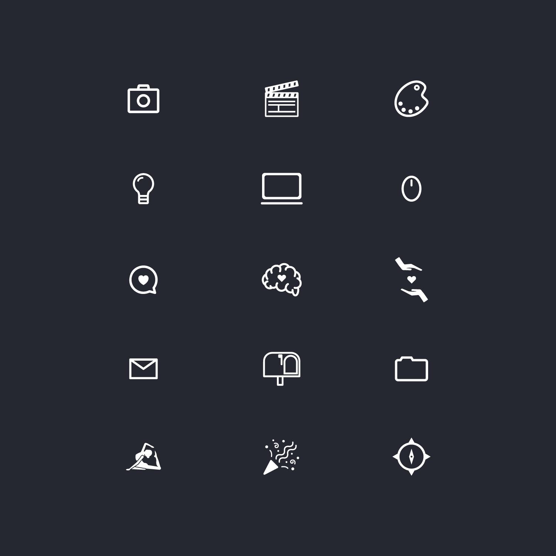 minimalistične ikone za zaposlovalno agencijo